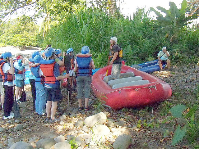 2. RAFTING SAFELY BY THE GUIDE