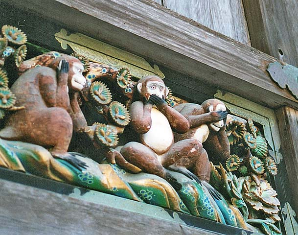 Nikko 3 wise monkeys Toshogu Hear Speak See