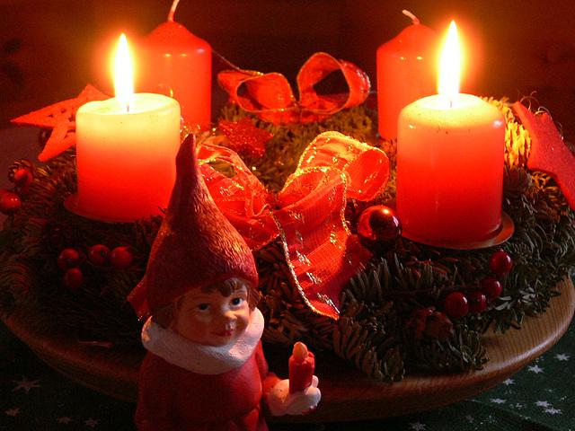Lichter am Adventskranz