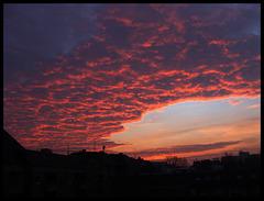 Fantastischer Sonnenaufgang, Hamburg St. Pauli