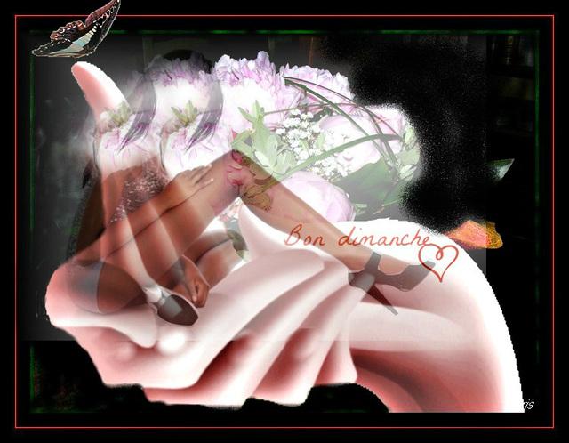 Des fleurs poussées ........par ma passion.............. J 'en fais éclore.......sa.......Création Krisontème.