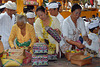 Preparing offerings to spend to hindu gods