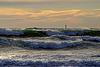 Une mer froide , sombre , retournée par un Mistral épuisant.