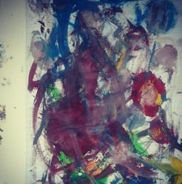 RAFAELA (6 years old) begins with her life's abstractions