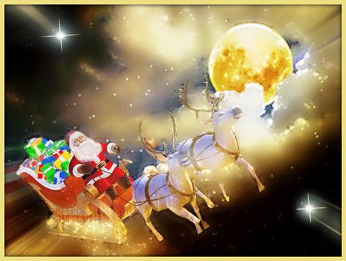 Départ du Père Noël