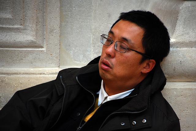 Touriste asiatique au Louvre