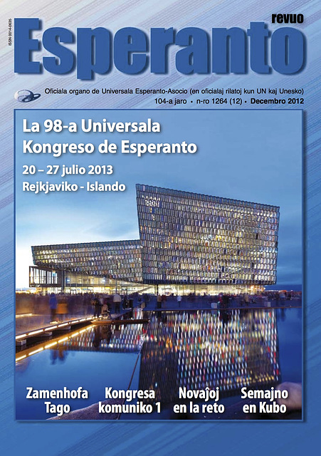 Revuo Esperanto, 105-a jaro, n-ro 1264 (12), decembro 2012