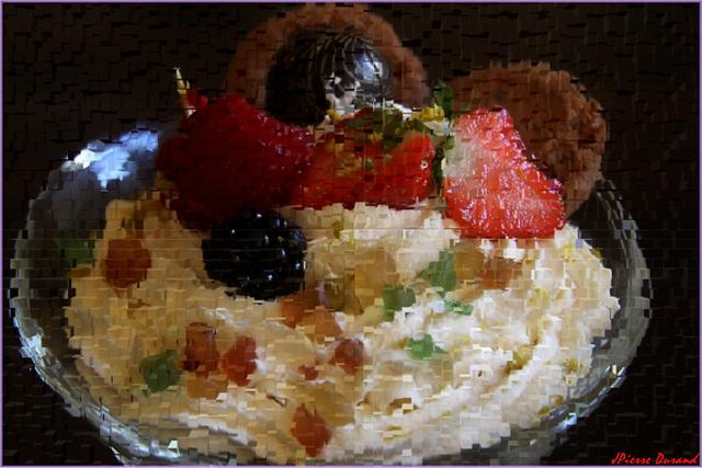 La Crème fruits rouges
