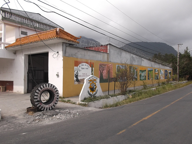 Pneu et façade / Façade and tyre.
