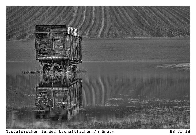 Nostalgic agricultural trailer