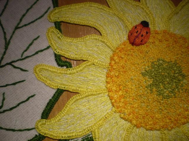 słoneczniki - stolik 61 x 61 cm (2)