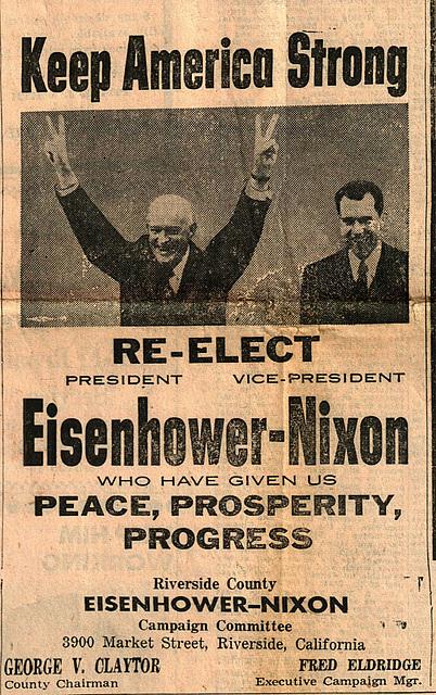 Eisenhower-Nixon - Desert Sentinel - Nov 1 1956