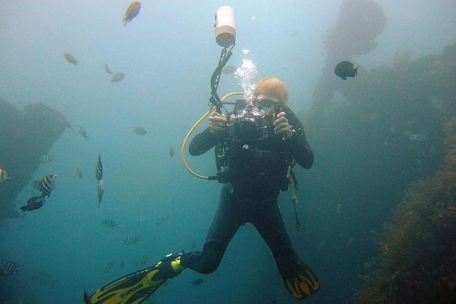 Dive buddy shooting me