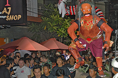 Ogoh-Ogoh statue walking on the audience
