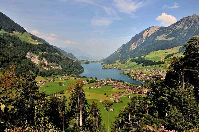 Panorama au col du Brünig...