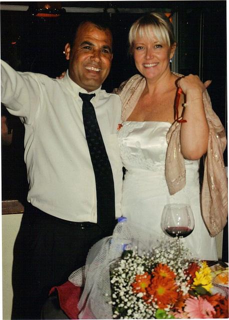 Mandi & Dogan celebrating their marriage
