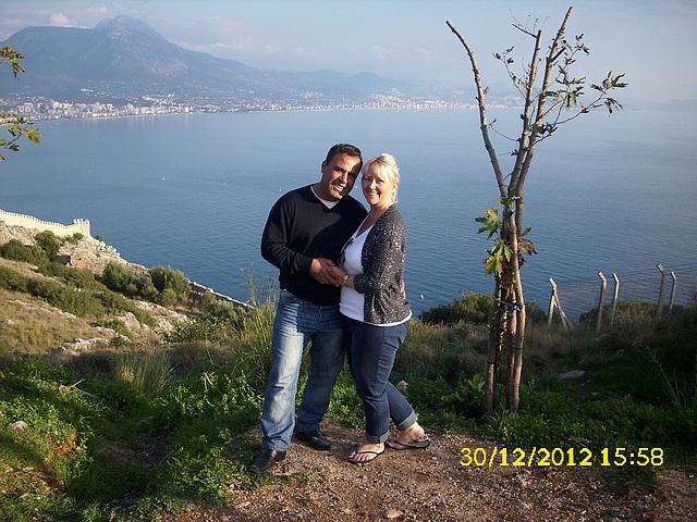 Mandi & Dogan on honeymoon in Alanya
