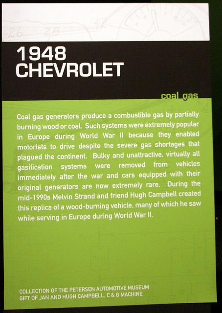 1948 Chevrolet with coal gas generator - Petersen Automotive Museum (8057)