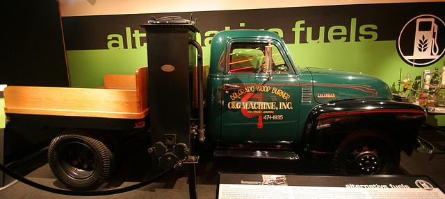1948 Chevrolet with coal gas generator - Petersen Automotive Museum (8058)