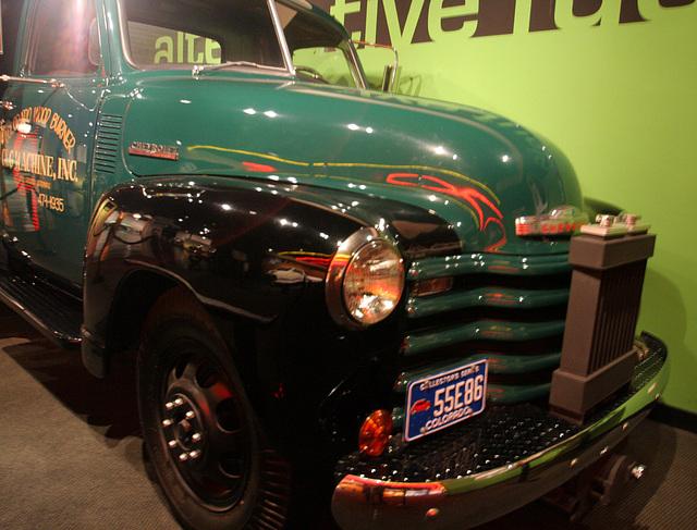 1948 Chevrolet with coal gas generator - Petersen Automotive Museum (8059)