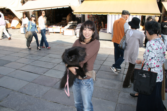 Nagano 41 Local Lady with Dog