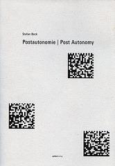 Post Autonomie Reader Cover