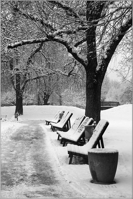 réservés pour la neige...
