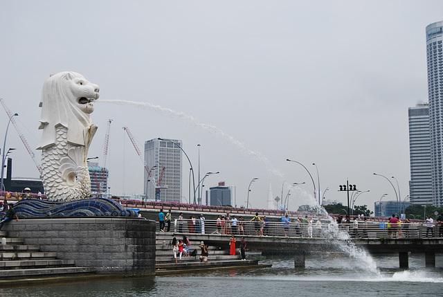 Le MerLion à Singapour