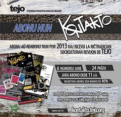 Abonu Kontakto-n por 2013