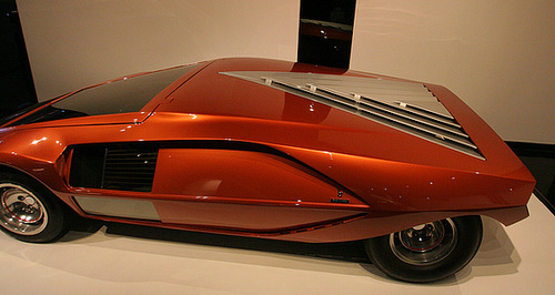 ipernity 1970 lancia stratos hf zero by bertone petersen automotive museum 8122 by ron 39 s log. Black Bedroom Furniture Sets. Home Design Ideas