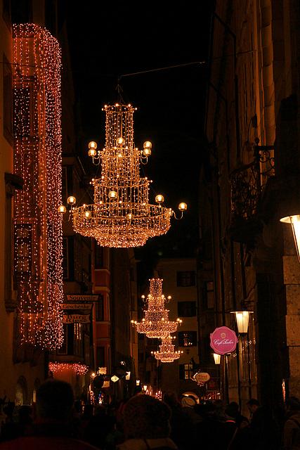 Innsbruck bei Nacht - Weihnachtsmarkt