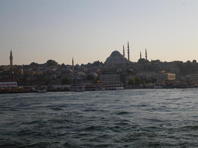 La Suleymaniyé vue depuis le pont de Galata