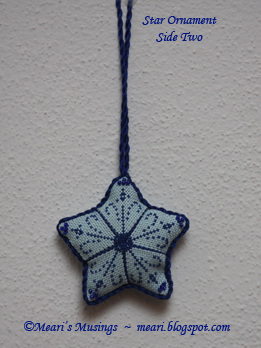Star Ornament (side 2) 10/21/12