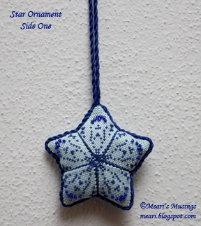 Star Ornament (side 1) 10/21/12