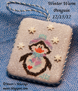 Winter Warm Penguin Ornament 12/15/12