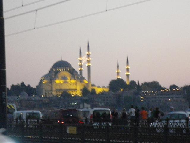 La Suleymanié vue de nuit