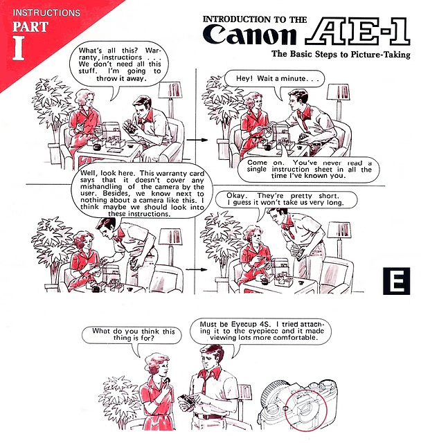 Instructions for my second hand Canon AE-1