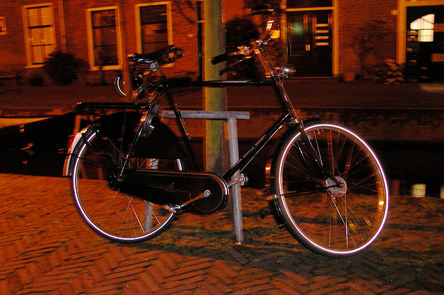 My Maundy Thursday - my trusty bike waiting for me