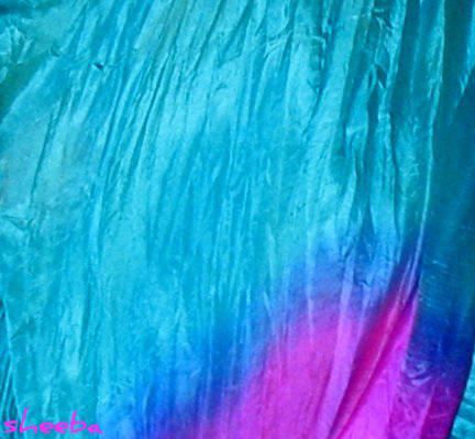 The silk flows....