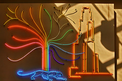 Neon Panther – William Pitt Union, University of Pittsburgh, Pittsburgh, Pennsylvania