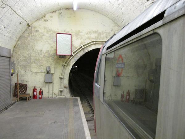 Train on west platform