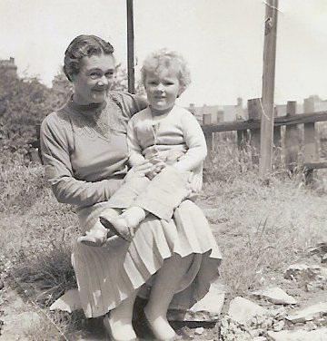 Auntie Doris (Lundbech) and Me, c1956