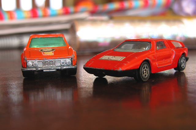 Old toys: BMW 3.0 CSi and Mercedes-Benz C111 (Matchbox)