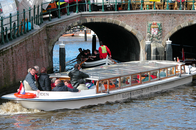 Past the tourist boat