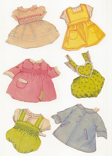 English Baby Paper Dolls