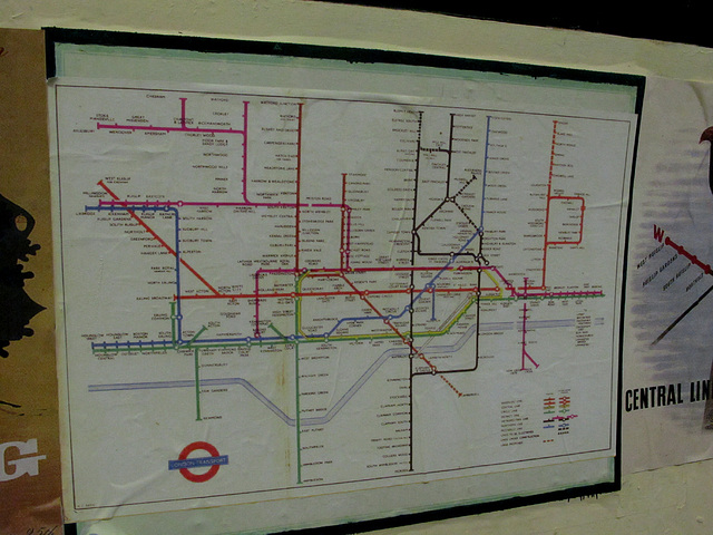 Old tube map