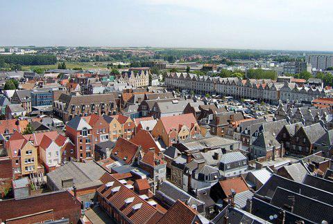 Arras Rooftops from The Belfry