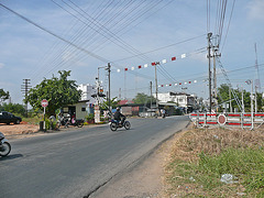 Level crossing near Thanonchira Jn