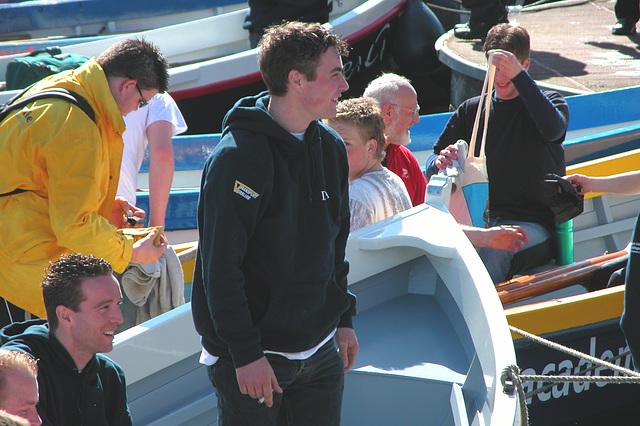 Oarsmen after the race