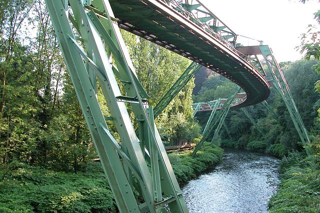 Suspension Line in Wuppertal, Germany   Schwebebahn Wuppertal, Deutschland
